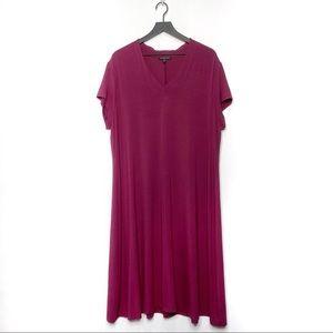 Eileen Fisher Woman V Neck Swing Dress